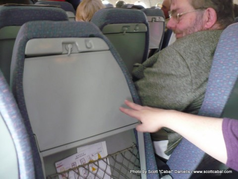 The seats folder forward as soon as you leaned on them