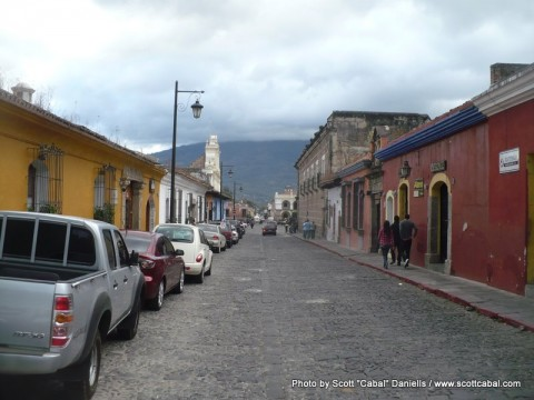 Street view in Antigua