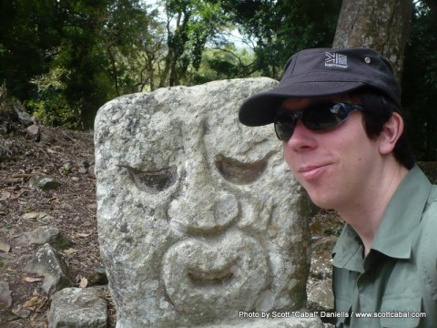 Me and a Monkey statue