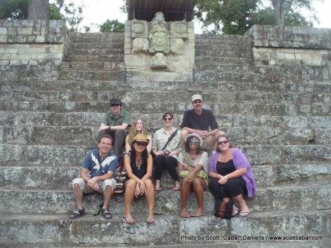 Some of our group at Copan Ruins