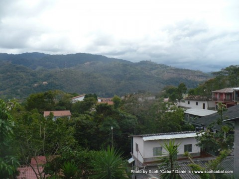 A view over the town of Copan
