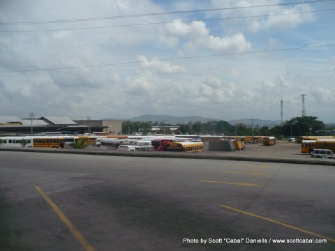The bus station at San Pedro Sula