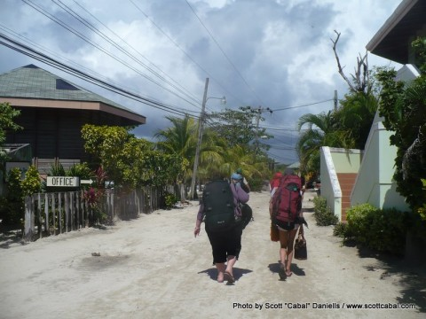 Walking to the minibus