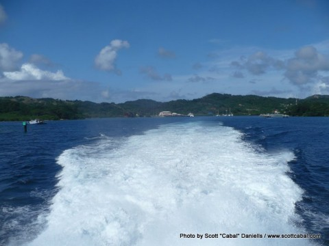 Leaving Roatan Island
