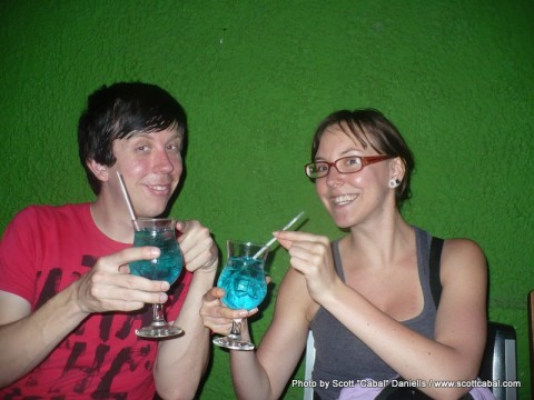 Me and Kelly with our drinks