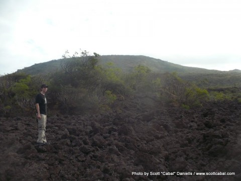 Me standing on lava