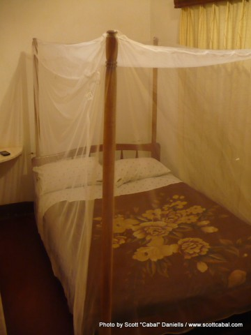 My room at the Entebbe Backpackers