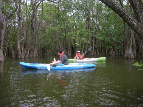 Me and Kelly on kayaks