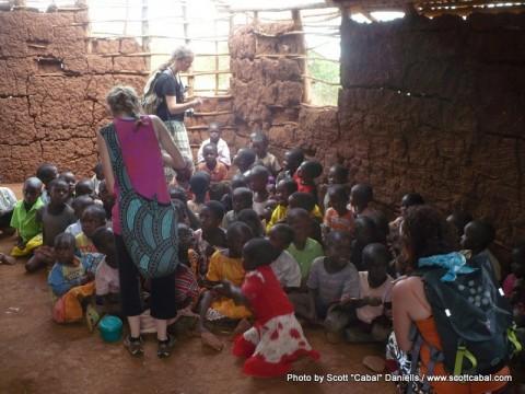 Inside a school in Uganda