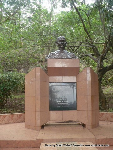 Gandhi was scattered at the source of the nile