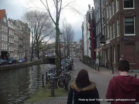 Walking around Amsterdam