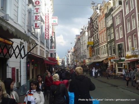 Walking around Amsterdam