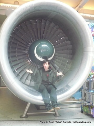 Me inside an engine
