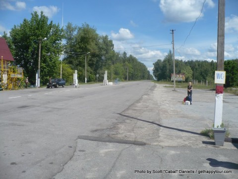 Arriving at the Chernobyl Exclusion Zone