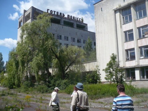 Abandoned hotel in Pripyat