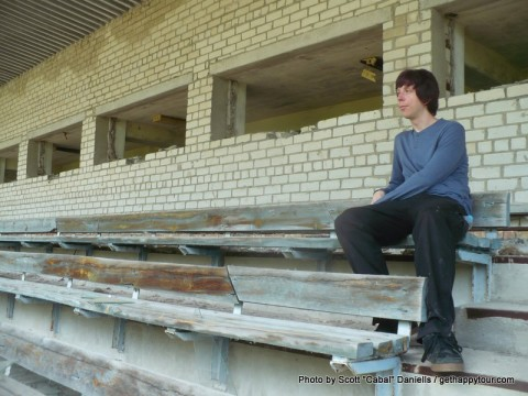 Relaxing at Pripyat Stadium