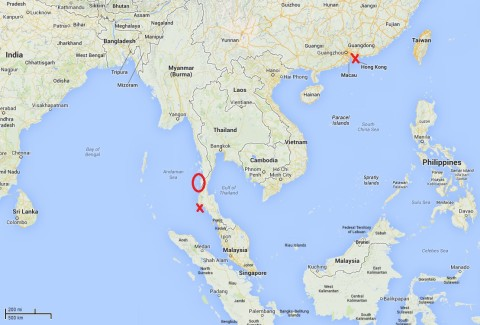 Myanmar Sailing Map