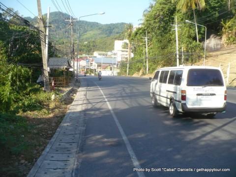 Walking around Karon