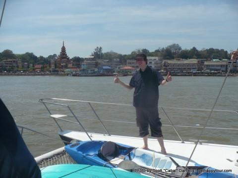 Me overlooking Kawthaung