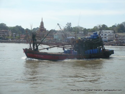 Myanmar fishing boat