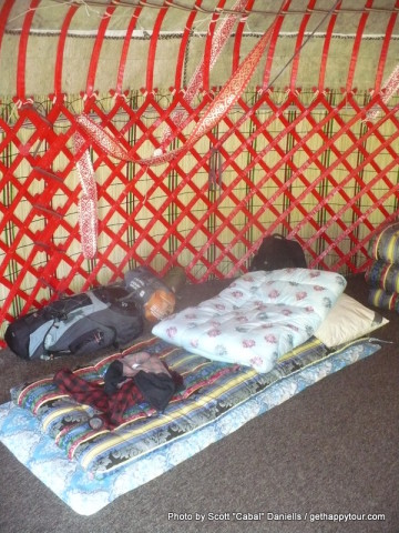 Inside another Yurt