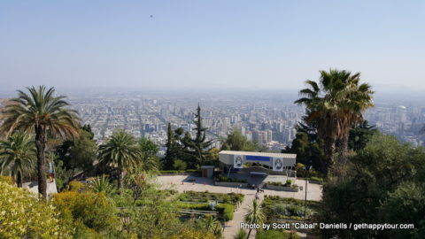 A great view of Santiago de Chile
